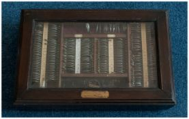 Antique & Impressive Opticians Eye Testing Glazed Top Mahogany Display Case, of fine quality