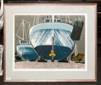 Graham Clark - Artist Signed Ltd and Numbered Wood Block / Lino Print, Num 40 of 50. Titled '