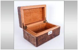Gents Maple Veneered Cigar/Cigarette Table Box