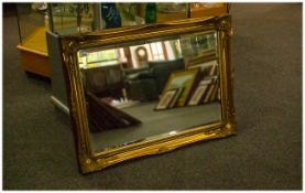 Overmantle Rectangular Mirror with gilt frame. Traditional design.