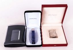 S.T Dupont Paris 1980's Silver Petrol Lighter, complete with box & outer box. Plus a further S.T