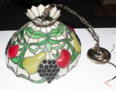 Tiffany Style Ceiling Light. 16.25 Inches Diameter.