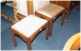 Rossmore Furniture 2 Plain Bedroom Dressing Tables Stools With Cushioned Seats