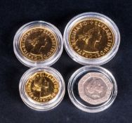 Small Selection Of Modern GB Coins Includes gold/silver plated old half penny, penny & twelve