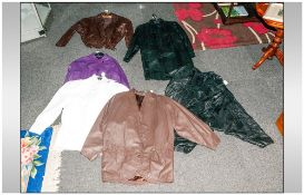 Collection Of Various Leather & Leatherette Jackets