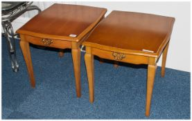 Matching Pair Of Bedside Cabinets Each With Single Drawer