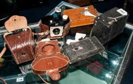 Collection Of 4 Cameras Comprising Kodak Brownie, Penguin, Adox And One Other