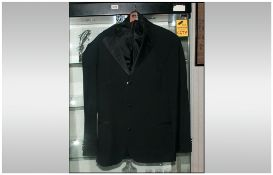 Hugo Boss Gents Three Piece Black Dinner Suit, Size 38/40. Cost New £800