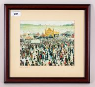 A Contemporary Modern Edition Print 'Lowry Flight of Daisy Nook Fair', Framed and Glazed. 13 by 12