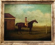 J F Sartourius (Attrib) c1810 Framed Oil On Canvas, Portrait Of Lord Egremont's Race Horse With