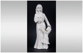 Royal Worcester Figurine 'New Arrival' RW4488, Issued 1990-2000. Modeller Maureen Hanson. 8.25''