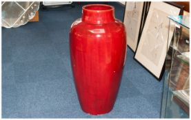 Minton Large Flambe Glazed Floor Standing Vase Impressed Marks To Base Mintons 215 & Date Mark For