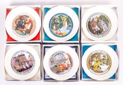 Set Of Six Wedgwood Childrens Story Plates 1971-1978 Inclusive. 1971 the first in the series.