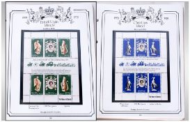 Coronation Anniversary Stamp Albums, containing mint & used commonwealth stamps.