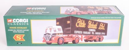 Corgi Classics Diecast Scale Model Eddie Stobbart Truck Foden S21 ''Mickey Mouse'' With Trailer.