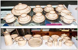 Denby Hand Crafter 54 Piece Part Dinner, Tea & Coffee Service, Memories Pattern, Comprising 6 trios,
