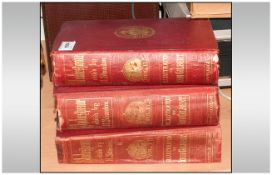 Books; The Plays Of Shakespeare by Howard Stanton 1858-60. a large 7x11'' set of three volumes in