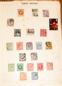 Simplex Stamp Album With Commonwealth Stamps From Queen Victoria Onwards, strength in George VI