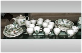 Collection of Midwinter Primavera, (27) assorted pieces, c 1954, Stylecraft shape.