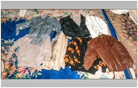 Collection Of Eight Various Bomber Jackets
