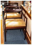 Pair Of Danish Design Carver Chairs Rosewood Finish Cushioned Seats