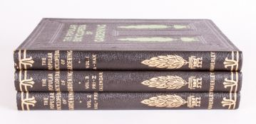 Three Volumes, The Popular Encyclopedia of Gardening, Edited by H. H. Thomas and Gordon.