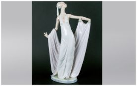 Lladro Figure - Grand Dame, Model Num.1568. Issued 1987-2000. Stands 13 Inches High, Left Hand