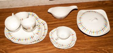 22 Pieces Of Midwinter Chrokee Pattern Jessie Tait Design 1957. including 6 plates, 6 cups &