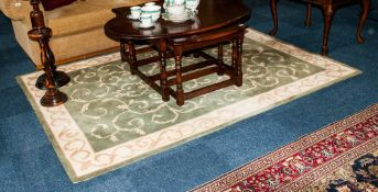 Crossley Rug Collection Green Woolen Rug 160 x 230cm