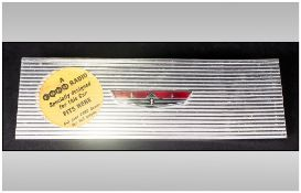 Front Car Radio Plaque