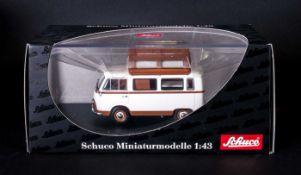Schuco Ltd Edition Diecast Metal Model Car Scale 1.43 - Ford Taunus Transit Camping Bus FK1000.
