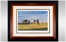 Craig Campbell Artist Signed Ltd Edition Colour Print. Titled ' The Power and The Glory ' England 15