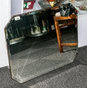 Bevelled Glass Octagonal Shaped Mirror 28x22
