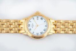 Rotary Gentleman's Gold Plated Wrist Watch, White Dial and Black Markers. Model Num GRB 150, with