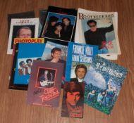 Pop Autographs On Tour Programmes, great signatures including Frankie Valli, Billy Joel, Tina
