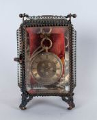 Antique 18ct Gold Cased Ornate Keywind Ladies Pocket Watch with quality gold dial. Housed in an