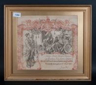 First World War. Honourably Discharged Notice - Frame and Glazed. To 98668 - Private Leonard