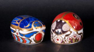 Royal Crown Derby Paperweight ( 2 ) In Total. 1/ Lady Bird 2 Spot, Gold Stopper, 1st Quality 1997 2/