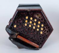Lachenal & Co 30 Key Anglo Concertina with original Lachenal Leather Hand Straps, six fold