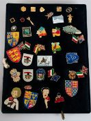 Collection Of Pin Badges To Include Some Enamelled, Betty Boop, Coat Of Arms etc