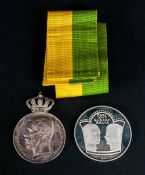 A Swedish King Carl Gustaf 16 - Silver Medal For Good Service, Boxed + a Further Swedish Silver
