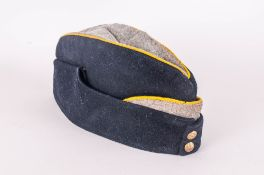 Military Army Cap 1939/1945 Black with Yellow Edging with Two Crested Buttons.