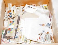 Very Large Box Full Of Assorted All World Stamps mostly off paper. A Better selection than usual.