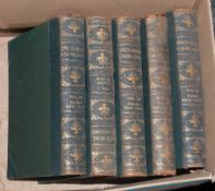 Five Volumes Of Leather Bound Pictoral Knowledge By Newnes.