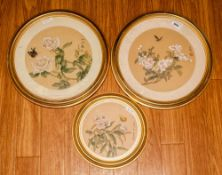 Three Chinese Watercolour Drawings On Paper Signed With Chinese Character Marks depicting