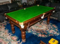 Turn Of The Century Half Size Antique Snooker Table two sets of snooker balls, 1 set of pool balls &