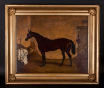 William Osborne - Irish Artist Attributed 1821-1901 ' Poppy ' Oil on Canvas. Signed and Titled to