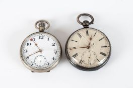 Silver Gents Pocket Watch C1850 + 1 other