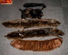 Collection Of Fur Items Including tippets, ties, stoles etc.