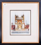 Harold Riley Pupil Of Lowry Pencil Signed By The Artist Limited & Numbered Edition Colour Print,